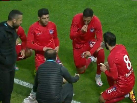 ترکش فٹبالرز کی میچ کے دوران روزہ کھولنے کی ویڈیو وائرل