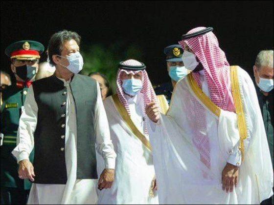 وزیراعظم کی محمد بن سلمان سے ملاقات، خطے کی صورتحال پر تبادلہ خیال