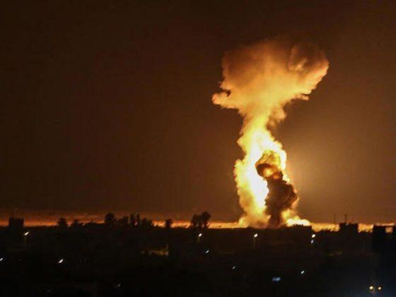 سیز فائر کے باوجود اسرائیلی طیاروں کی غزہ پر بمباری