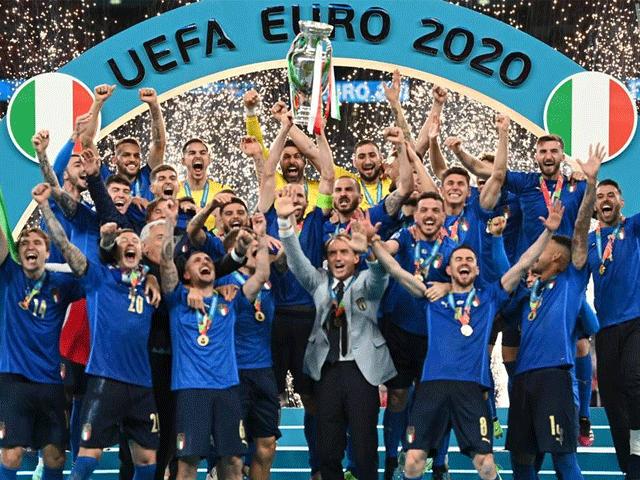 یوروکپ میں انگلینڈ کو شکست دیکر اٹلی چیمپئن بن گیا