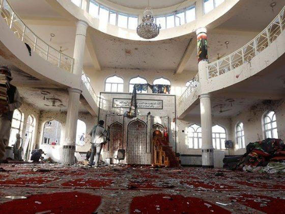 افغانستان میں نماز جمعہ کے دوران مسجد میں دھماکا، 100 افراد جاں بحق